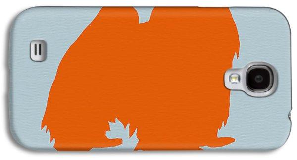 Japanese Chin Orange Galaxy S4 Case by Naxart Studio