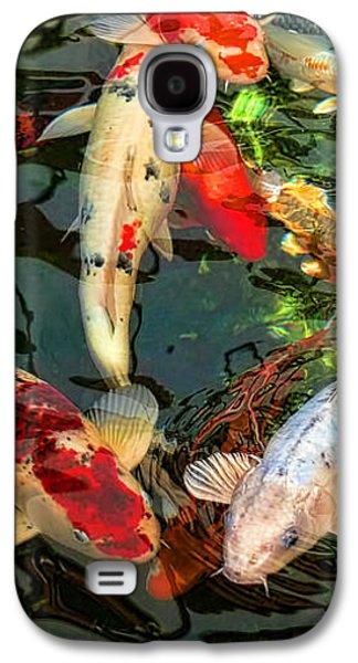 Japanese Koi Fish Pond Galaxy S4 Case by Jennie Marie Schell
