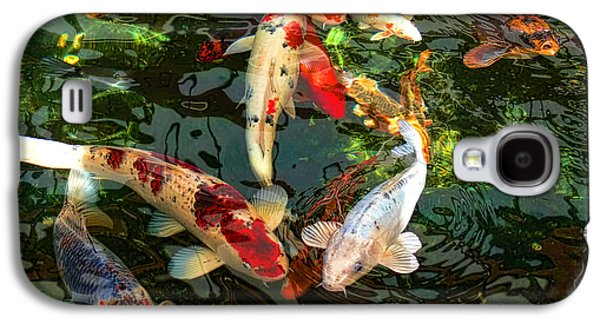 Japanese Koi Fish Pond Galaxy S4 Case by Jennie Marie Schell
