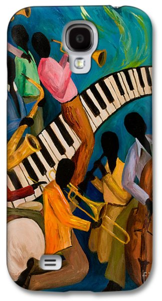 Trombone Galaxy S4 Case - Jazz On Fire by Larry Martin