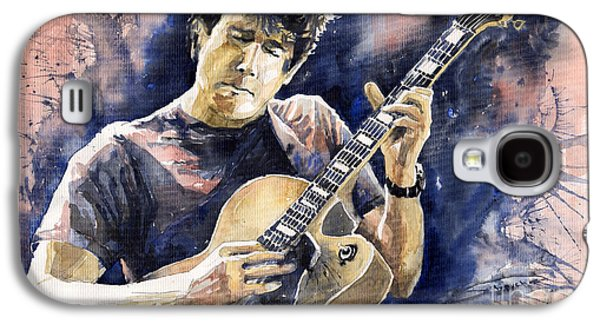 Legend Paintings Galaxy S4 Cases - Jazz Rock John Mayer 06 Galaxy S4 Case by Yuriy  Shevchuk