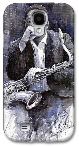 Jazz Saxophonist John Coltrane Black Galaxy S4 Case by Yuriy  Shevchuk