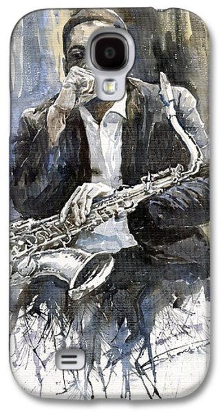 Jazz Saxophonist John Coltrane Yellow Galaxy S4 Case by Yuriy  Shevchuk