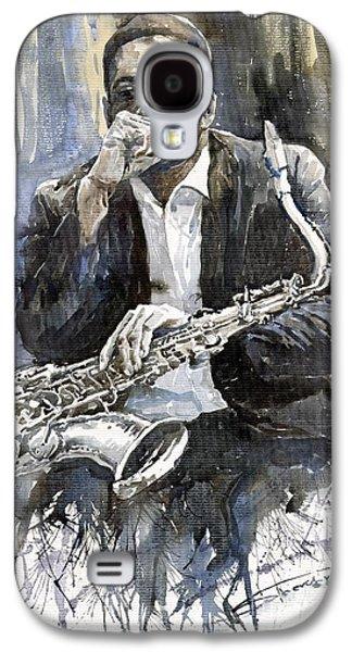 Galaxy S4 Case - Jazz Saxophonist John Coltrane Yellow by Yuriy Shevchuk