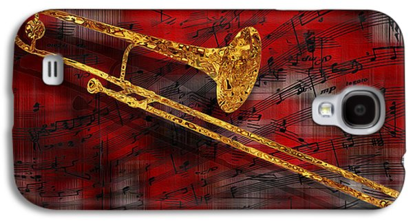 Trombone Galaxy S4 Case - Jazz Trombone by Jack Zulli