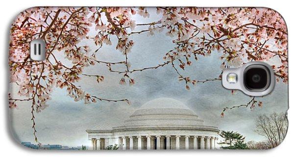 Jefferson Memorial Galaxy S4 Case - Jefferson Blossoms by Lori Deiter