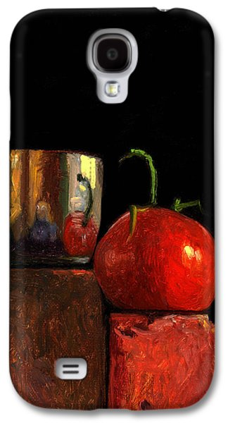 Jefferson Cup With Tomato And Sedona Bricks Galaxy S4 Case by Catherine Twomey