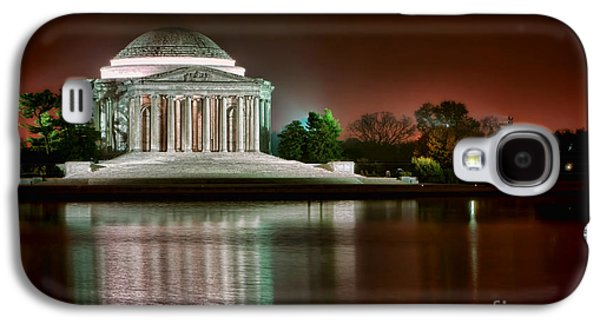 Jefferson Memorial At Night Galaxy S4 Case by Olivier Le Queinec