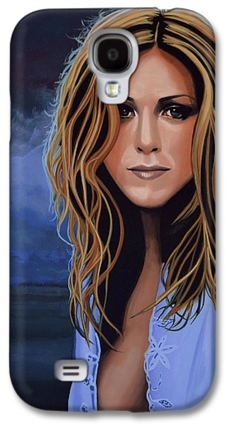 Jennifer Aniston Painting Galaxy S4 Case
