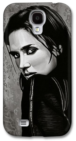 Jennifer Connelly Painting Galaxy S4 Case