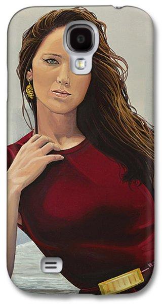 Jennifer Lawrence Painting Galaxy S4 Case