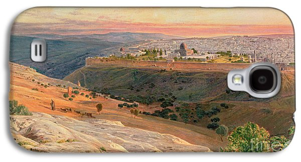 Jerusalem From The Mount Of Olives Galaxy S4 Case by Edward Lear