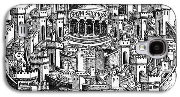Jerusalem Temple, 1493 Galaxy S4 Case by Granger