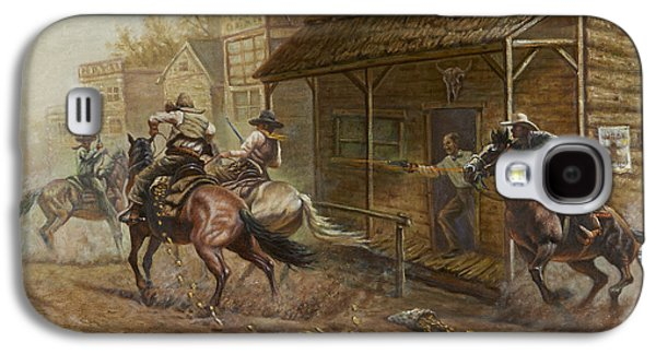 Jesse James Bank Robbery Galaxy S4 Case by Gregory Perillo