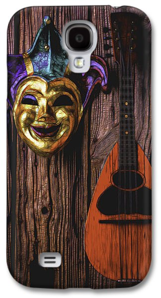 Jester Mask And Mandolin Galaxy S4 Case by Garry Gay