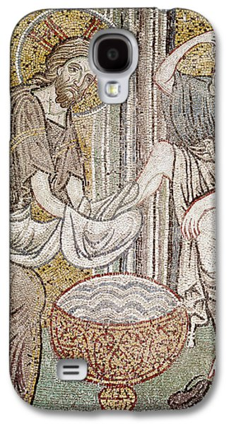 Jesus And Saint Peter, Detail From Jesus Washing The Feet Of The Apostle Mosaic Galaxy S4 Case