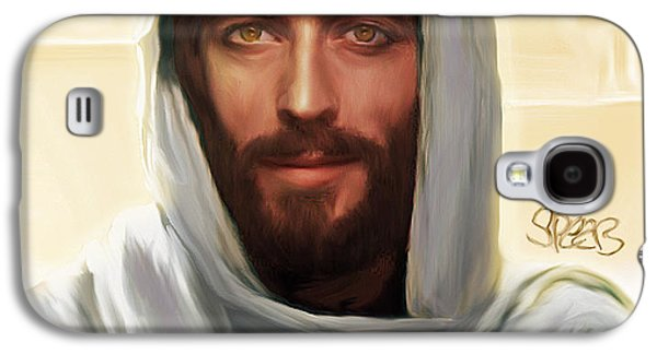 Jesus Smiling Galaxy S4 Case by Mark Spears