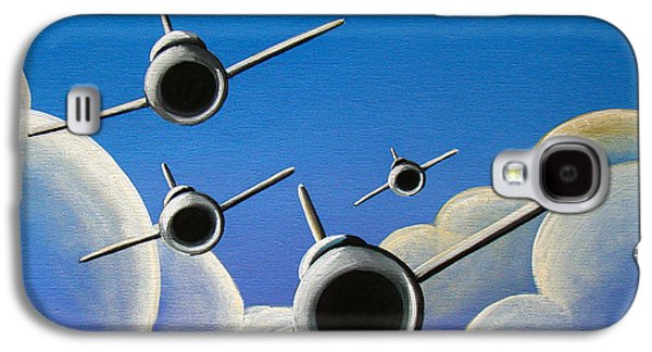 Airplane Galaxy S4 Case - Jet Quartet by Cindy Thornton