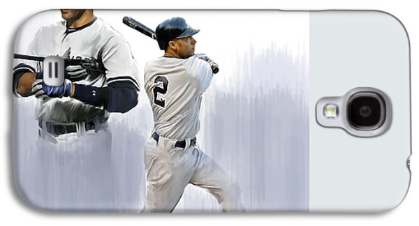 Jeter V Derek Jeter Galaxy S4 Case by Iconic Images Art Gallery David Pucciarelli