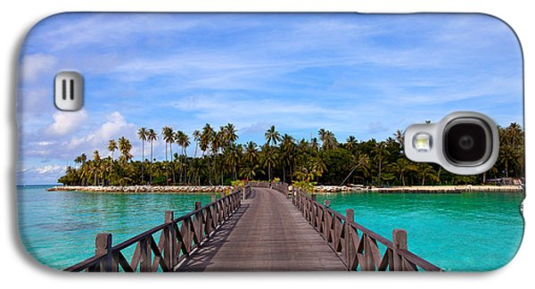 Jetty On Tropical Island Galaxy S4 Case by Fototrav Print