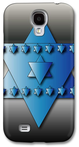 Galaxy S4 Case featuring the digital art Jewish Stars by Marvin Blaine