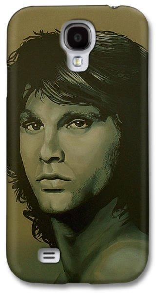 Raven Galaxy S4 Case - Jim Morrison Painting by Paul Meijering
