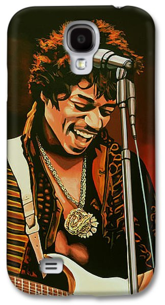 Knight Galaxy S4 Case - Jimi Hendrix Painting by Paul Meijering