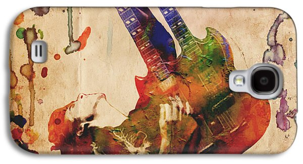 Jimmy Page - Led Zeppelin Galaxy S4 Case by Ryan Rock Artist