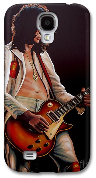 Jimmy Page In Led Zeppelin Painting Galaxy S4 Case by Paul Meijering