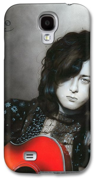 ' Jimmy Page ' Galaxy S4 Case by Christian Chapman Art