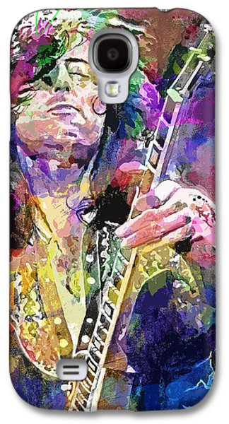 Jimmy Page Electric Galaxy S4 Case by David Lloyd Glover
