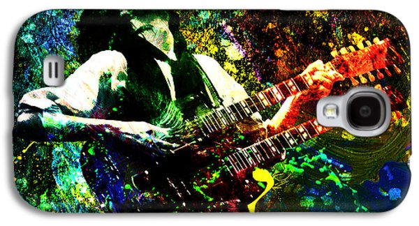 Jimmy Page - Led Zeppelin - Original Painting Print Galaxy S4 Case by Ryan Rock Artist