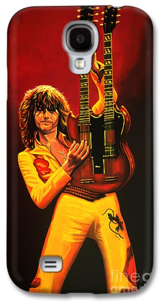 Jimmy Page Painting Galaxy S4 Case by Paul Meijering