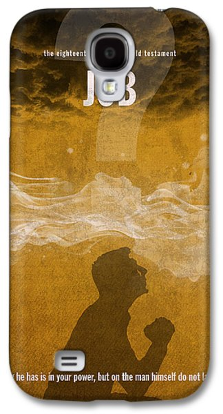 Job Books Of The Bible Series Old Testament Minimal Poster Art Number 18 Galaxy S4 Case by Design Turnpike