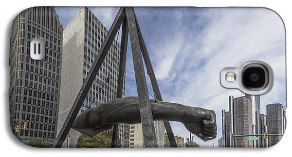 Joe Louis Fist Downtown Detroit  Galaxy S4 Case by John McGraw