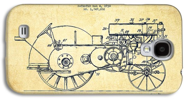 John Deer Tractor Patent Drawing From 1930 - Vintage Galaxy S4 Case by Aged Pixel