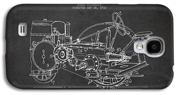 John Deer Tractor Patent Drawing From 1933 Galaxy S4 Case by Aged Pixel