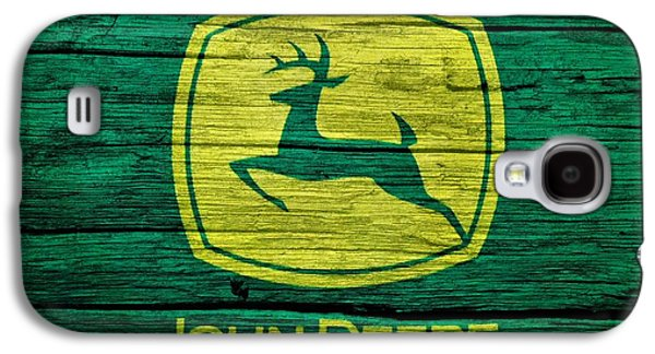 John Deere Barn Door Galaxy S4 Case by Dan Sproul
