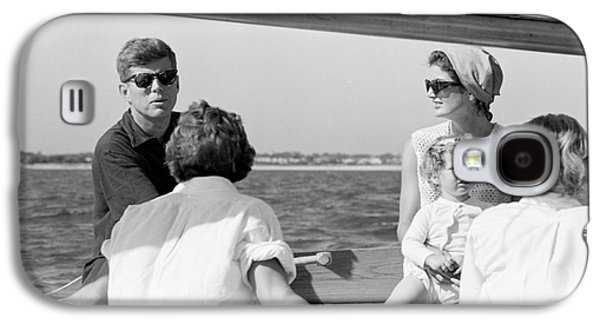 John F. Kennedy And Jacqueline Sailing Off Hyannis Port Galaxy S4 Case by The Harrington Collection