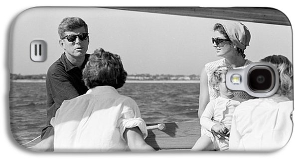 John F. Kennedy And Jacqueline Sailing Off Hyannis Port Galaxy S4 Case