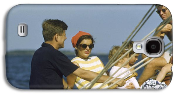 John F. Kennedy Boating Galaxy S4 Case by The Harrington Collection