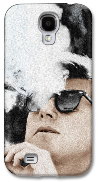 John F Kennedy Cigar And Sunglasses Galaxy S4 Case by Tony Rubino