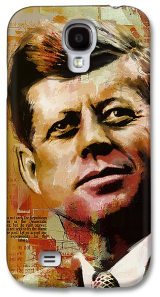 John F. Kennedy Galaxy S4 Case by Corporate Art Task Force