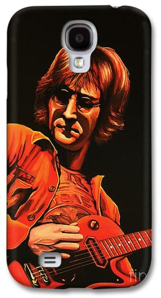 John Lennon Painting Galaxy S4 Case by Paul Meijering
