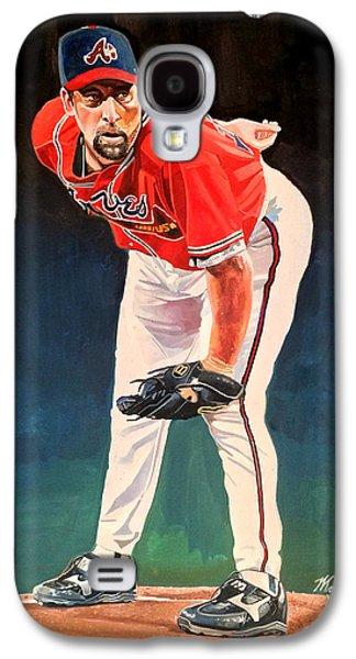 John Smoltz - Atlanta Braves Galaxy S4 Case by Michael  Pattison