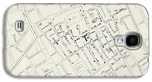John Snow's Cholera Map Galaxy S4 Case by British Library