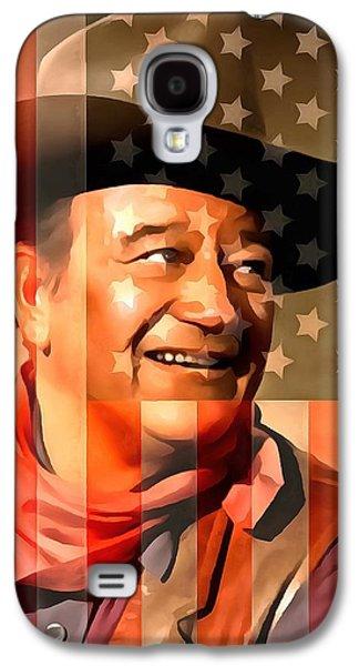 John Wayne American Cowboy Galaxy S4 Case by Dan Sproul