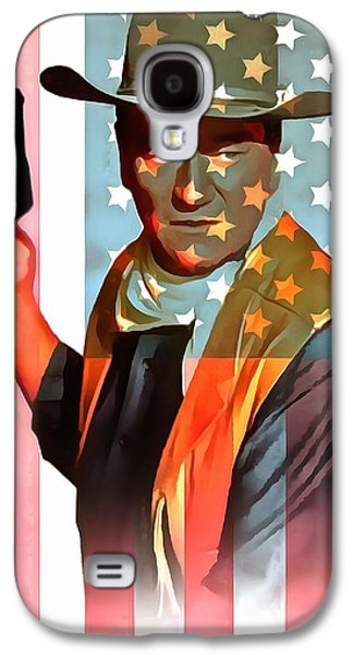 John Wayne American Icon Galaxy S4 Case by Dan Sproul