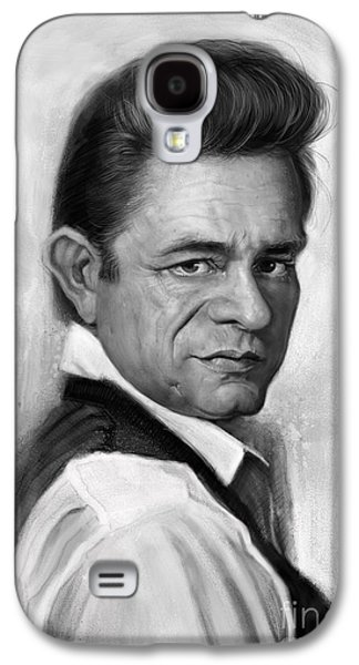 Johnny Cash Galaxy S4 Case by Andre Koekemoer