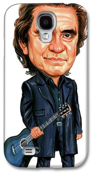 Johnny Cash Galaxy S4 Case by Art